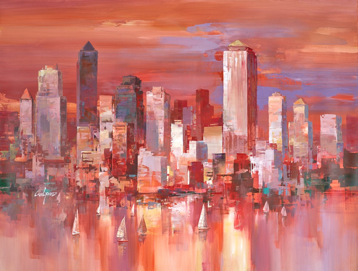 To the City III by wilfred -  sized 46x34 inches. Available from Whitewall Galleries